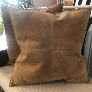 Ralph Lauren suede pillows NWOT set of two